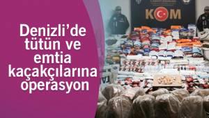 Denizli'de tütün ve emtia kaçakçılarına operasyon