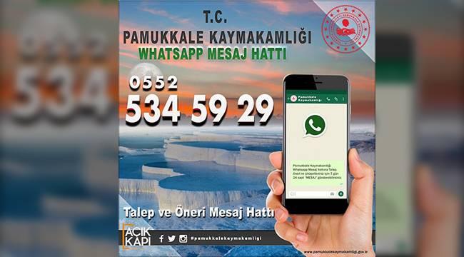 Pamukkale Kaymakamlığından Whatsapp uygulaması