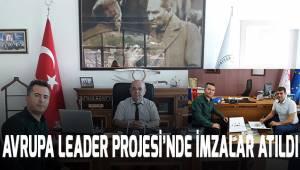 Serinhisar Belediyesi'nde Leader Projesi'nin imzaları atıldı.