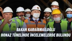Ulaştırma ve Altyapı Bakanı Karaismailoğlu, Honaz Tünelinde incelemede bulundu