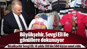 Büyükşehir Sevgi Eli, 14 yılda 138 bin 500 kişiye umut oldu