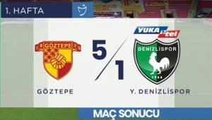 Maç Sonucu: Göztepe 5-1 Y.Denizlispor