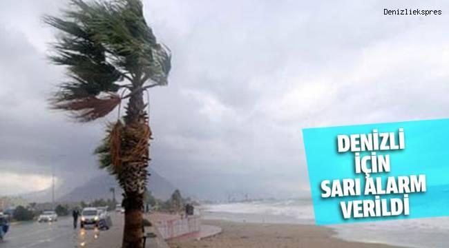 Meteoroloji Genel Müdürlüğünden Denizli için 'Sarı' uyarı