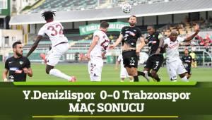 Süper Lig: Yukatel Denizlispor: 0 - Trabzonspor: 0 (Maç sonucu)