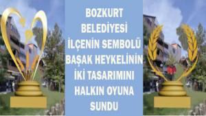 Bozkurt belediyesi başak heykelinin iki tasarımını halkın oyuna sundu