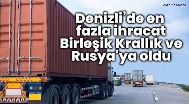 Denizli'de en fazla ihracat Birleşik Krallık ve Rusya'ya oldu