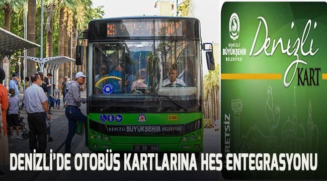 Denizli'de otobüs kartlarına HES entegrasyonu