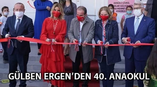 GÜLBEN ERGEN 40. ANAOKULUNU ÇİVRİL'DE AÇTI