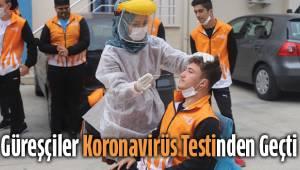 Güreşçiler korona virüs testinden geçti