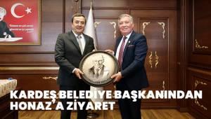 KARDEŞ BELEDİYE BAŞKANINDAN HONAZ'A ZİYARET