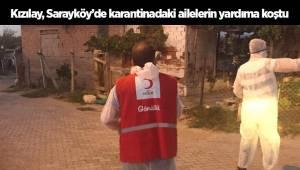 Kızılay, Sarayköy'de karantinadaki ailelerin yardıma koştu
