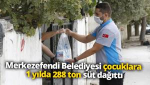 Merkezefendi Belediyesi çocuklara 1 yılda 288 ton süt dağıttı