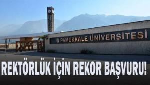 Pamukkale Üniversitesi'nde Rektörlük için başvuru yarışı