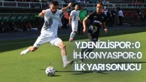 Süper Lig: Denizlispor:0 - Konyaspor:0 (İlk yarı)