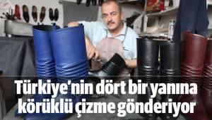 Türkiye'nin dört bir yanına körüklü çizme gönderiyor