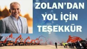 Başkan Zolan'dan teşekkür