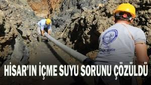 Büyükşehir DESKİ ile Hisar'ın içme suyu sorunu çözüldü