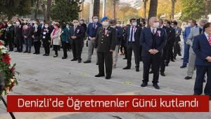 Denizli'de 24 Kasım Öğretmenler Günü törenle kutlandı