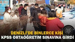 Denizli'de binlerce kişi KPSS Ortaöğretim Sınavına girdi