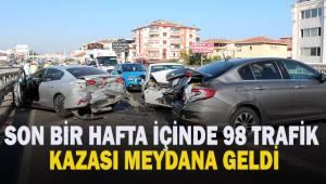 Denizli'de son bir hafta içerisinde 98 trafik kazası meydana geldi