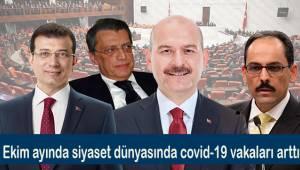 Ekim ayında siyaset dünyasında Covid-19 vakaları arttı