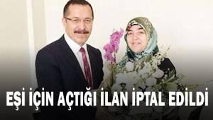 Eşine özel çıktığı ilan iptal edildi