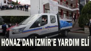 HONAZ'DAN İZMİR'E YARDIM ELİ
