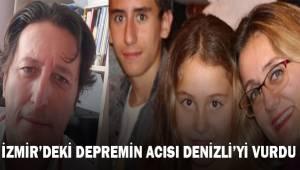 İzmir depreminin acısı Denizli'yi vurdu