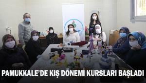Pamukkake'de kış dönemi kursları başladı