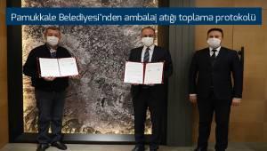 Pamukkale Belediyesi'nden ambalaj atığı toplama protokolü