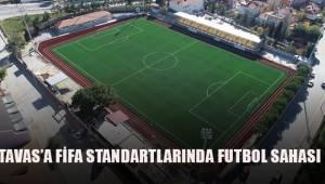 Tavas'a FİFA standartlarında futbol sahası