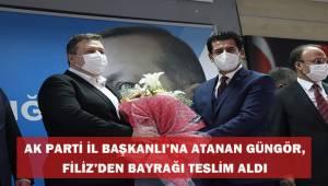 AK Parti İl Başkanlığına atanan Güngör, Filiz'den bayrağı teslim aldı