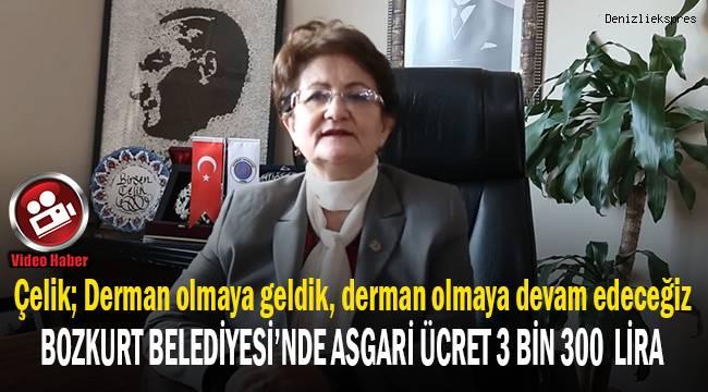 Çelik; Bozkurt Belediyesi'nde asgari ücretin 3 bin 300 Lira olduğunu açıkladı