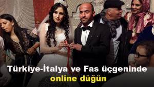 Türkiye-İtalya ve Fas üçgeninde online düğün