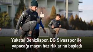 Yukatel Denizlispor, DG Sivasspor ile yapacağı maçın hazırlıklarına başladı