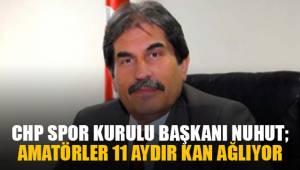 CHP Spor Kurulu Başkanı Nuhut, amatörler 11 aydır kan ağlıyor