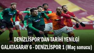Denzilispor'dan tarihi yenilgi! Galatasaray: 6 - Denizlispor: 1 (Maç sonucu)
