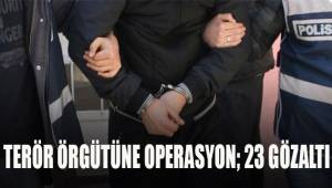 7 ilde terör operasyonu: 23 gözaltı