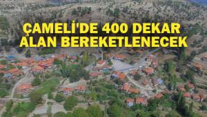 ÇAMELİ'DE 400 DEKAR ALAN BEREKETLENECEK