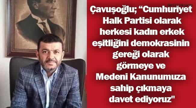 Çavuşoğlu Medeni Kanunun kabulünün 95. Yılı dolayısıyla bir basın açıklaması yaptı