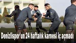 Denizlispor'un 24 haftalık karnesi iç açmadı