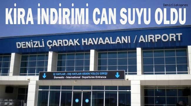 DHMİ havalimanlarındaki kira indirimi, Denizlili işletmecileri sevindirdi