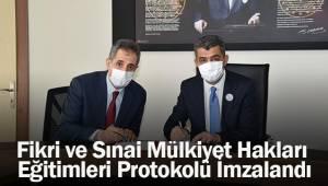 Fikri ve Sınai Mülkiyet Hakları Eğitimleri Protokolü İmzalandı