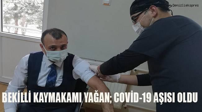 Kaymakam İrem Baha Yağan covid-19 aşısı oldu.