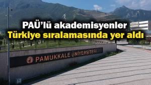 PAÜ'lü akademisyenler Türkiye sıralamasında yer aldı