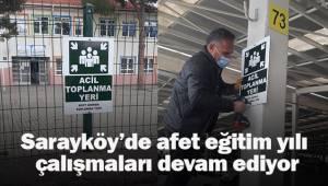 Sarayköy'de afet eğitim yılı çalışmaları devam ediyor