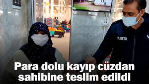 Sarayköy zabıtası para dolu kayıp cüzdanı sahibine teslim etti