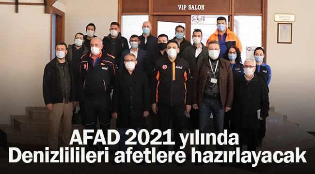 AFAD 2021 yılında Denizlilileri afetlere hazırlayacak
