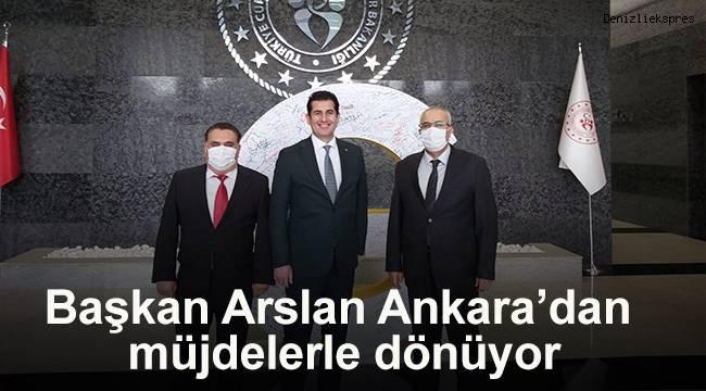 Başkan Arslan Ankara'dan müjdelerle dönüyor