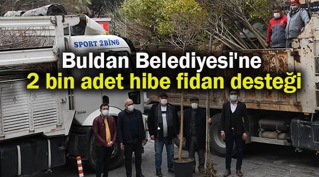 Buldan Belediyesi'ne 2 bin adet hibe fidan desteği
